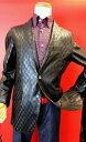 【バラシ】【barassi】【レザージャケット】【2016秋冬新作】【メンズ】【ブランド】【テーラードジャケット】【羊革】【メンズファッション】【バラシ服】 市松柄ラムレザージャケット ブラック 5P01Oct16