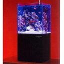 ※水流調節加工済み ニッソー クロスミニ ブラック 小型オーバーフロー水槽 + 飛び出し防止用ガラスブタ付 水槽セット 熱帯魚 海水魚