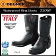 送料無料 DEGNER / デグナーWaterproof Ring Bootsウォータープルーフ リングブーツ230WP ブラック
