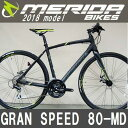 送料無料 クロスバイク メリダ グランスピード 80-MD (マットブラック | EK45) 2018 MERIDA GRAN SPEED 80-MD