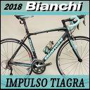 ビアンキ ロードバイク インパルソ ティアグラ 2018年モデル (マットブラック) Bian