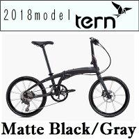 折りたたみ自転車 ターン ヴァージュ P10 (マットブラック/グレー) 2018 TERN VERGE P10 フォールディングバイクの画像
