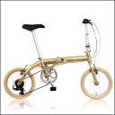 16インチ超軽量フォールディングバイク折り畳み自転車 RENAULT LIGHT9 16インチ AL折りたたみバイク(33835) AL-FDB166 ゴールド ルノー