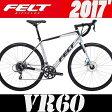 ロードバイク FELT (フェルト) VR60 (マットシルバー) 2017 02P01Oct16 0824楽天カード分割