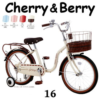 Children's bicycle SOGO cherry and Berry 16 inch 2014 Sogo CHERRY & BERRY 16 baby bike car 02P01Mar15