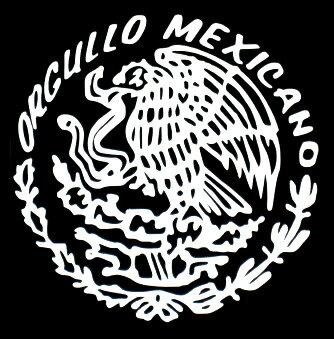 ステッカー【ORGULLO MEXICO Lサイズ】(全2色)車 バイク アメリカン カッティングデカール