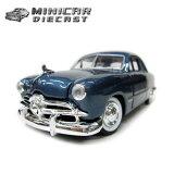 1:24 箱入りダイキャストミニカー【'49 FORD COUPE ブルー】49年式フォード アメ車 MOTOR MAX社製