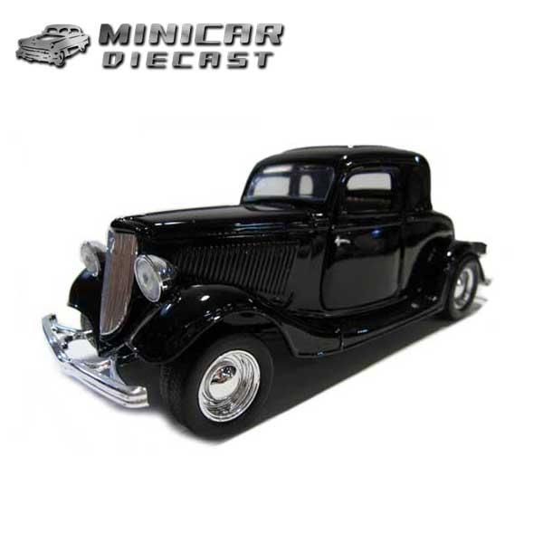 1/24 箱入り ダイキャスト ミニカー【1934 FORD COUPE ブラック】34年式フォード クーペ アメ車【MOTOR MAX】