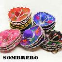 メキシコ雑貨 ミニソンブレロ カラー (全8色)直径約15c...