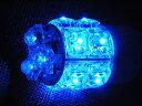 【あす楽対応】T20タイプ 広角3段 13連LEDバルブ ウェッジ W球 ブルー