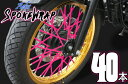 【スポーク】送料無料【Aebsエービス】 スポークラップ 【ピンク】スポークスキン カラースポーク【SR400 DS400 セロー250 WR250X XT250X トリッカーYZ250 TW FTR CRF250 CB223S グラストラッカー RM-Z DR-Z Dトラッカー KLX250 W600 エストレア】あす楽
