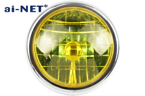 【6ヶ月保証付】 【MONKEY[モンキー]】マルチリフレクター ヘッドライト レンズリム付き イエロー aiNET