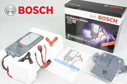【送料無料】【BOSCH[ボッシュ]】 バッテリーチャージャー C7 フルオートマチック 12V/24V対応 BAT-C7 バッテリー充電器