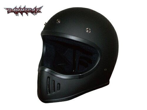 12月入荷 予約品【DAMMTRAX[ダムトラックス]】 ザ ブラスター マットブラック 黒 バイク用 ヘルメット フルフェイス バイクヘルメット