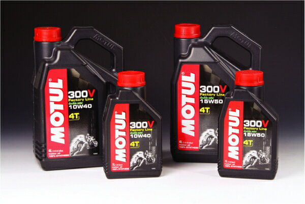 【ラフ&ロード】MOTUL[モチュール] 300V FACTORY LINE MOT-027 10w40 4リットル【オイル】【4スト用オイル】【ROUGH&ROAD[ラフアンドロード]】