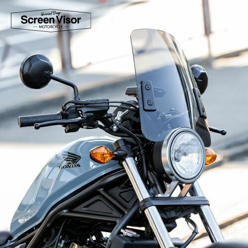 1月下旬入荷 【6ヶ月保証付】【ZOOMER[ズーマー]】 スクリーンバイザー メーターバイザー 中型タイプ スモークスクリーン 風防 汎用 aiNET製