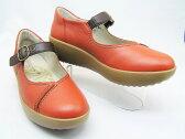 「+5cmヒール」のウェッジソールシリーズが新登場 ▼SORBOソルボ/2440 レンガ/アキレス本革日本製/履き心地が大人気で脚が長く見える
