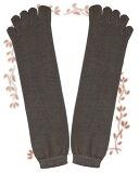 不捆紧的丝5指袜。L尺寸。草木染做着天然植物的丁字。是穿在脚上非常好的袜子。是穿的话普通的袜子的长度。放松5个手指没有脚后跟L尺寸ku做称心如意[リラックス5本指 かかとなしLサイズ くす染め]