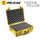 家電, AV, 相機 - PELICAN ペリカン 1450HK イエロー 業務用 中型カメラケース ブロックウレタン付き FAA機内持込サイズ プロテクトケース