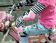 2サイズ2カラー有り!キッズ用プロテクター6点セット【グレー・ピンク】検索用 ニーパット/プロテクターセット/エルボーパッド/