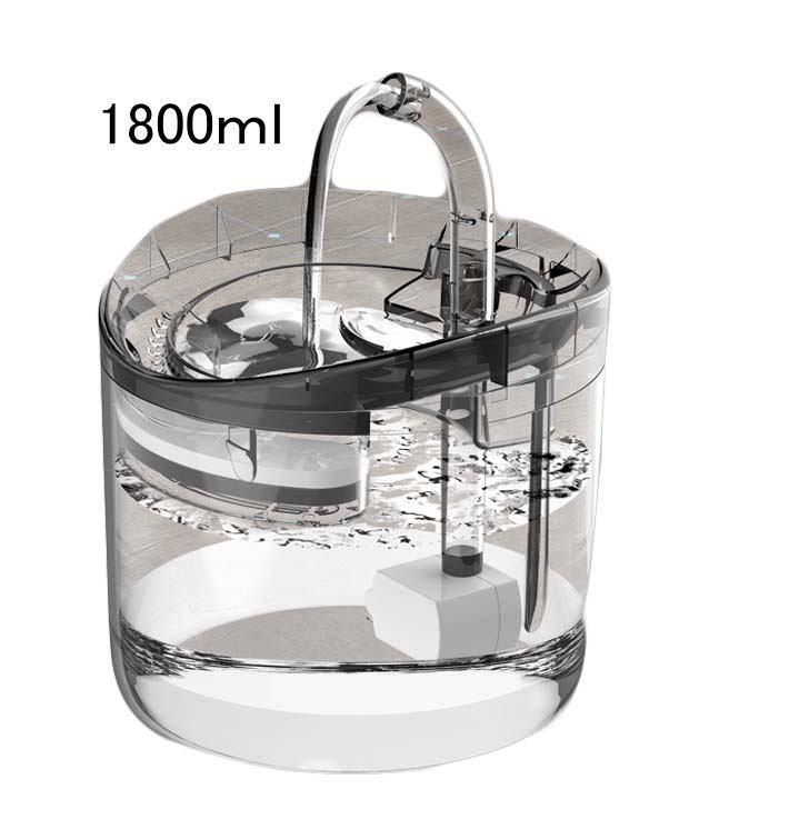 ペット用自動浄水給水器透明タイプNO1138検索用→ペット用給水器猫水犬用猫用水飲み給水器猫用品犬用