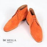 【在庫一点セールアイテム】【DI MELLA ディメッラ】1069 スエード チャッカブーツ ARAGOSTA オレンジ DI MELLA/ディメッラ/SUEDE11/イタリア靴 P08Apr16