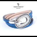 TIBERIO FERRETTI ティベリオフェレッティ 本クロコバックル付ブレスレット t-brace-blue