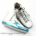 GOLDEN GOOSE / ゴールデングース SNEAKERS FRANCY / フランシー ハイカット スニーカー [SPARKLE WHITE/BLUE STAR]g28ms591e39(Men's)