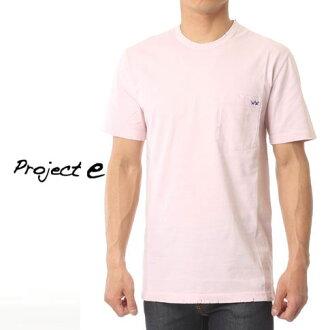 [在訪問期間半價專案 ! 樂天超級銷售] 專案 e 專案 e 圓領口袋短袖 T 襯衫損傷處理粉紅色 mtp 粉紅色