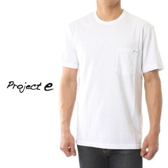 專案 e 專案 e 圓領口袋短袖 T 恤損傷處理白色 mtp 白色