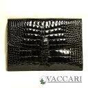 イタリア製正規品VACCARIヴァッカーリCrocodile究極のクラッチバッグが遂に登場!イタリア製正規品VACCARIヴァッカーリCrocodileクロコアリゲーターシャイニーブラック