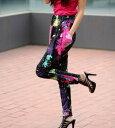 ショッピングダンス 衣装 ヒップホップ カラフルサルエルパンツ ダンス ステージ衣装