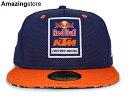 NEW ERA RED BULL KTM FACTORY RACING 【LOGO/NAVY-ORG】 ニューエラ レッドブル KTM 59FIFTY FITTED フィッテッド キャップ [帽子 ヘッドギア 大きい サイズ メンズ レディース Redbull 16_12_5 17_1_1 16_12RE 17_1RE]