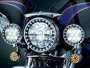 【トリムリング】 LED HALO パッシングライト トリムリング:グロスブラック ハーレーパーツ