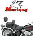 【マスタング製】※送料無料※ Mustang STUDDED シート ソフテイルモデル用 2000〜05年FXSTモデル、2000〜07年FLSTモデルに適合(ソロシート) ハーレー