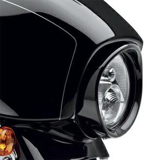 【61400292】 バイザースタイル・トリムリング・ヘッドライト・グロスブラック ハーレー純正パーツ