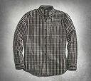 【99006-16vm】Flames Plaid Shirt S/M/L/XLハーレーアパレル