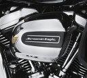 【61300762】 スクリーミンイーグル・エアクリーナーメダリオン 2017年以降ツーリング、トライク 標準装備エアクリーナーカバー装着車(但しCVOは除く) ハーレー純正パーツ