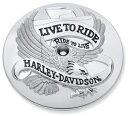 【29341-02】 LIVE TO RIDE・コレクション/クローム・エアクリーナートリム ハーレー純正パーツ