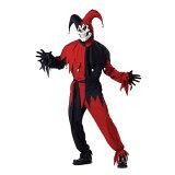 EVIL JESTER 丑角 滑稽的人黑amp;红色 服��,戏装 男士用|64-5,[EVIL JESTER ピエロ ジョーカー ブラック&レッド 衣装、コスチューム 男性用|64-5、]