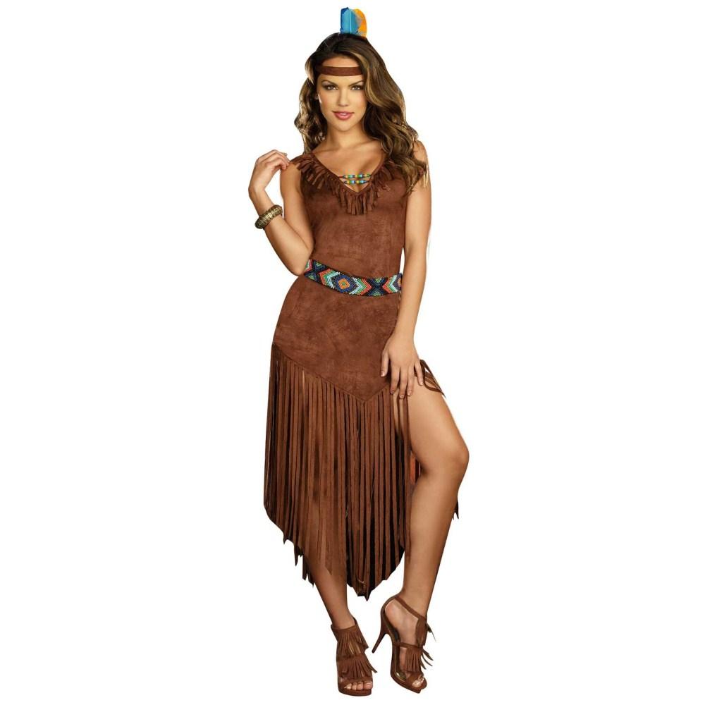 ホット・オン・ザ・テイル アメリカ先住民族風 衣装、コスチューム 大人女性用 2-3