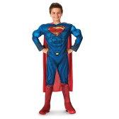 スーパーマン 衣装、コスチューム 子供男性用 DLX マン・オブ・スティール|soc21