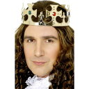 楽天アメリカンコスチューム楽天市場店王冠 ゴールド 王様風 宝石 大人男性用 Jewelled King's Crown