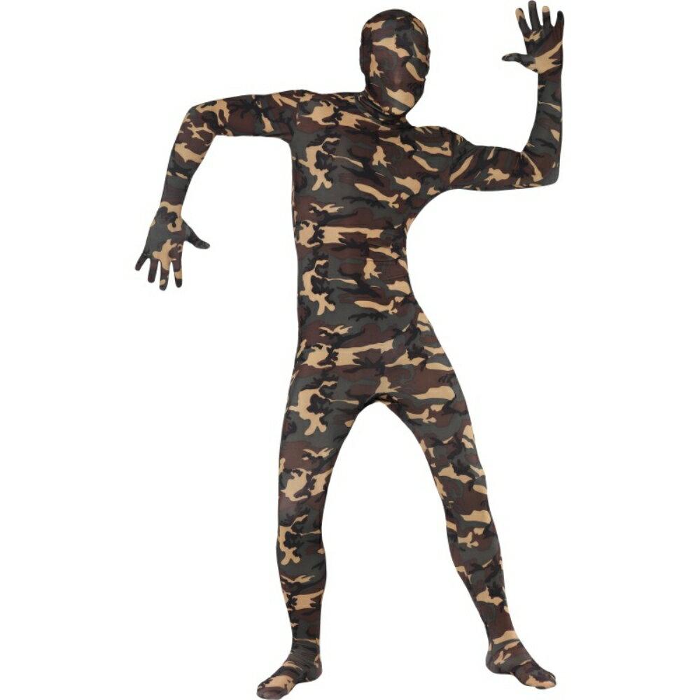 カモフラージュ 全身タイツ 衣装、コスチューム 迷彩 大人男性用 Camouflage:アメリカンコスチューム楽天市場店