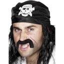 楽天アメリカンコスチューム楽天市場店バンダナ 黒 海賊風 ドクロ 大人男性用 Pirate Bandanna
