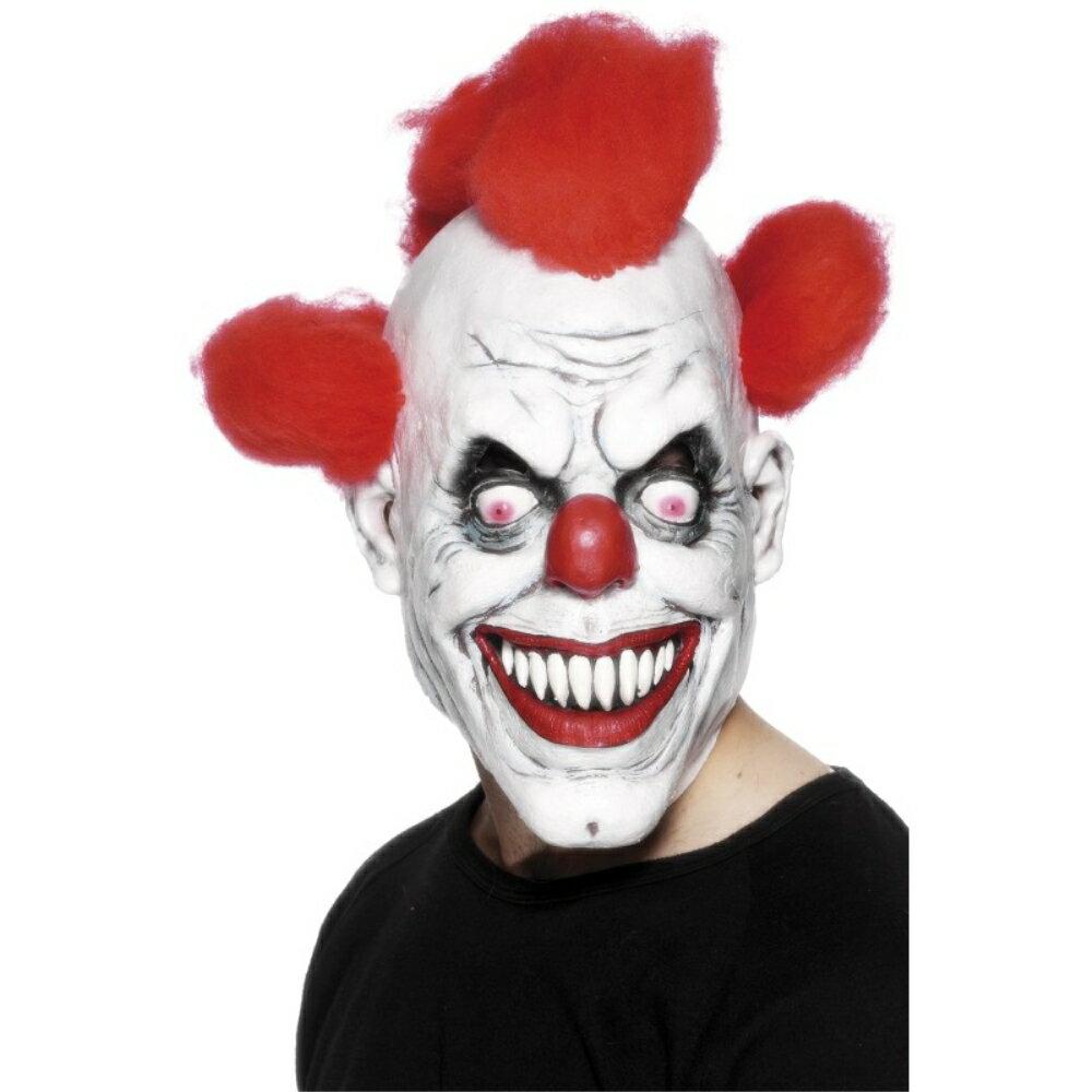 ホラーマスクピエロ風3/4大人男性用Clown3/4Maskコスプレ