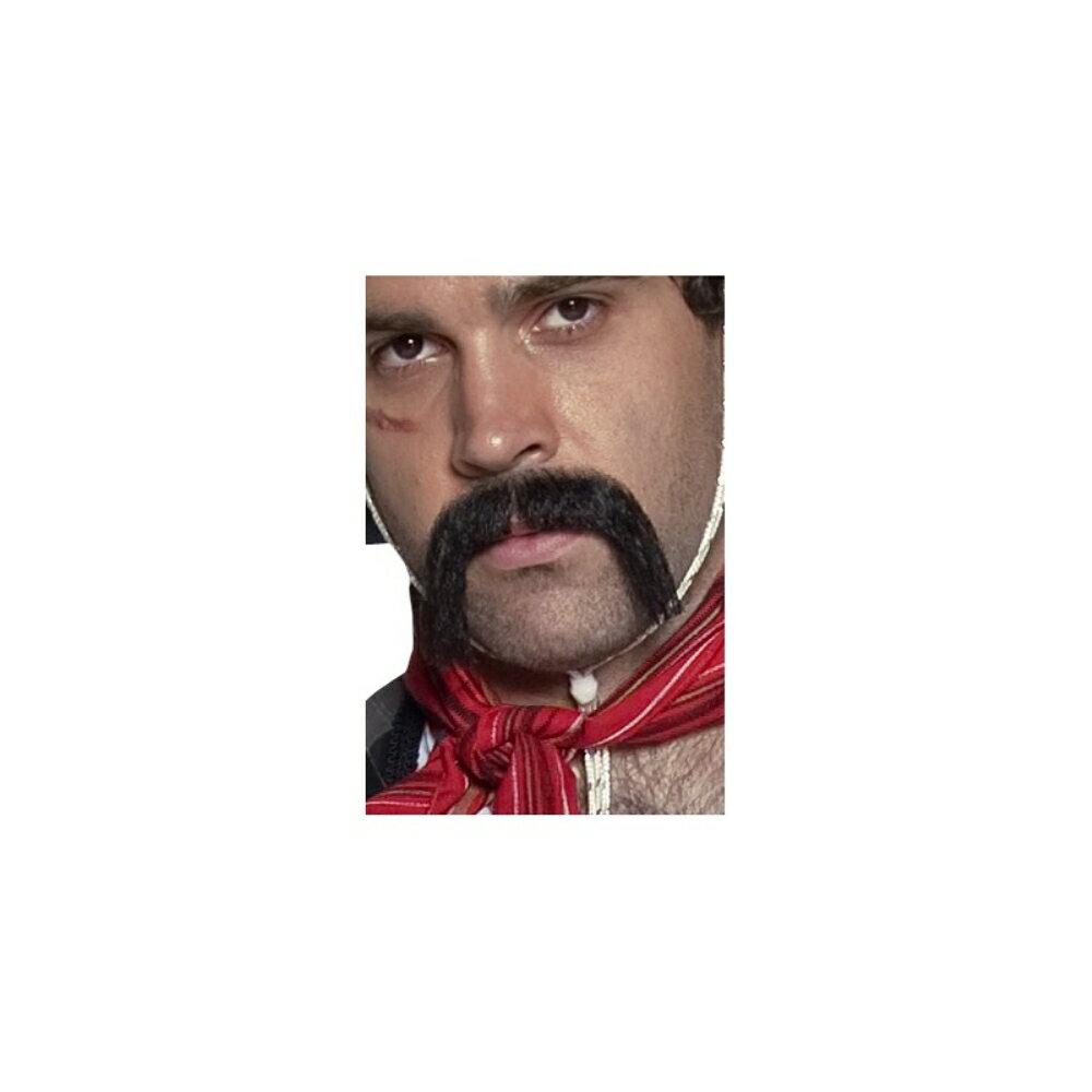 口ひげブラックメキシコ風ハンドルバー大人男性用MexicanHandlebarMoustache