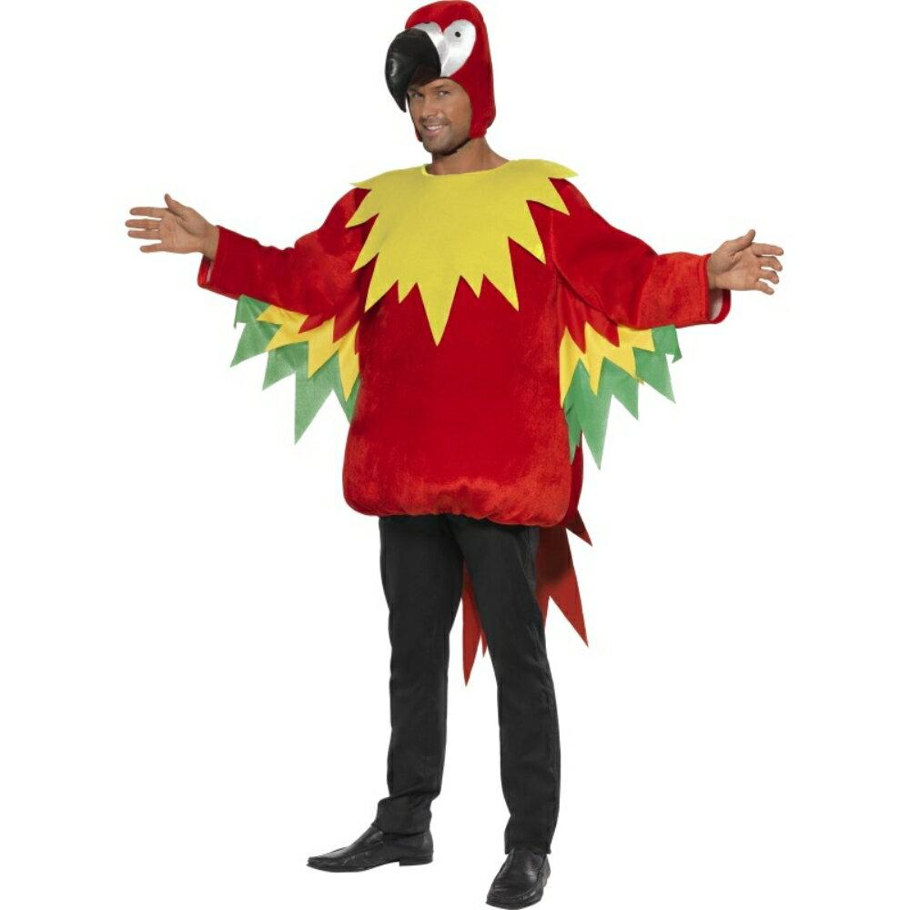 オウムジャンプスーツ衣装、コスチューム大人男性用Parrot