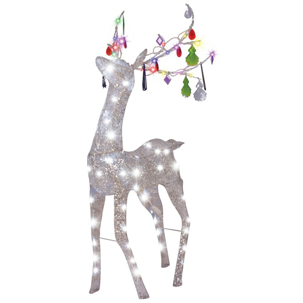 トナカイ クリスマス デコレーション JEWELED CRYSTAL CHANDLE DEER