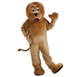 ライオン 着ぐるみ 衣装、コスチューム 大人男性用 DLX-PLUSH LION MASCOT